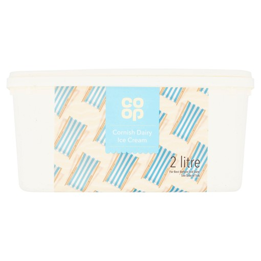Picture of Co Op Cornish Dairy Ice Cream 2 Litre