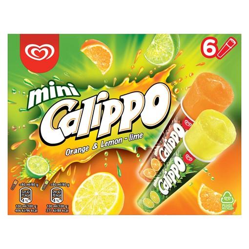 Picture of Calippo Orange & Lemon-Lime Ice Lollies 6 x 80 ml