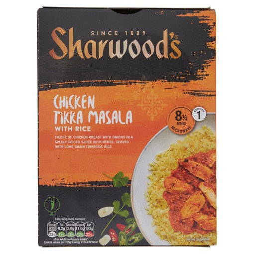Picture of Sharwood's Chicken Tikka Masala with Rice 375g