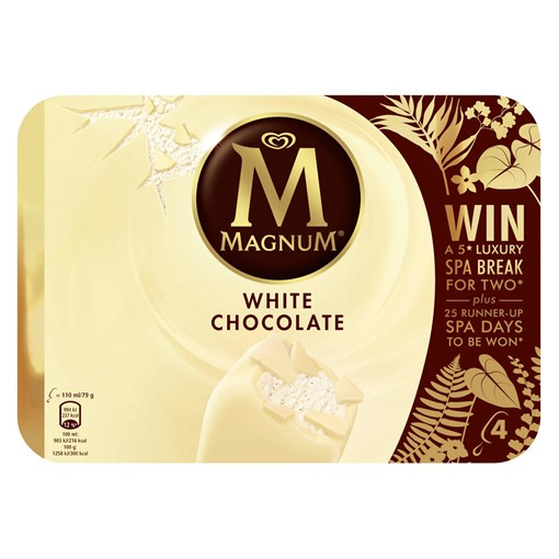 Picture of Magnum White Chocolate Ice Cream 4 x 110 ml