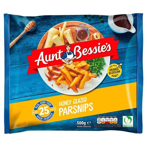 Picture of Aunt Bessie's Honey Glazed Parsnips 500g