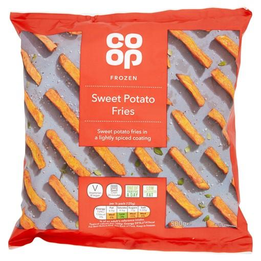 Picture of Co Op Frozen Sweet Potato Fries 500g