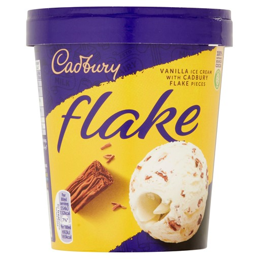 Picture of Cadbury Flake 99 Ice Cream Tub 480ml