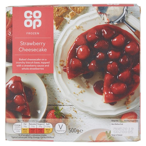 Picture of Co-op Frozen Strawberry Cheesecake 500g