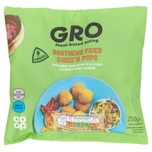 Picture of GRO Southern Fried Chick'n Pops 250g