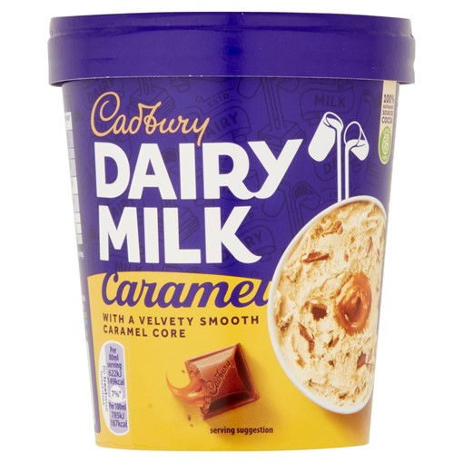 Picture of Cadbury Dairy Milk Caramel Ice Cream Tub 480ml