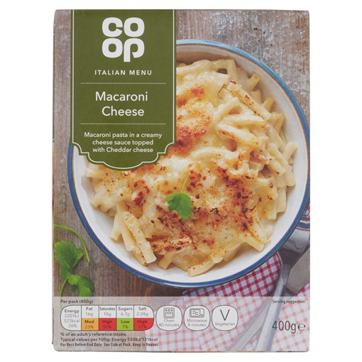 Picture of Co-op Italian Macaroni Cheese 400g