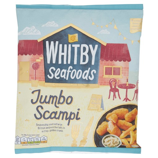 Picture of Whitby Seafoods Ultimate Jumbo Scampi 220g