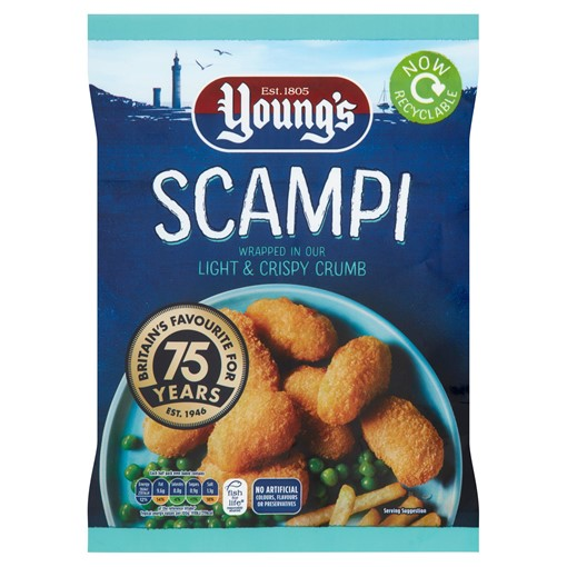 Picture of Young's Scampi Wrapped in Our Light & Crispy Crumb 220g