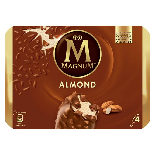 Picture of Magnum Almond Ice Cream 4 x 100 ml