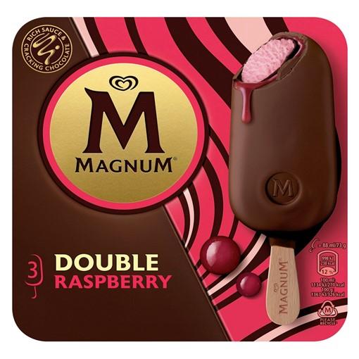 Picture of Magnum Double Raspberry Ice Cream 3 x 88 ml