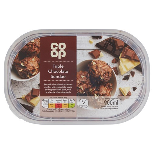 Picture of Co Op Triple Chocolate Sundae 900ml