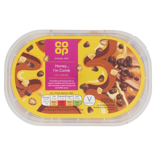 Picture of Co Op Honeycomb Ice Cream 900ml