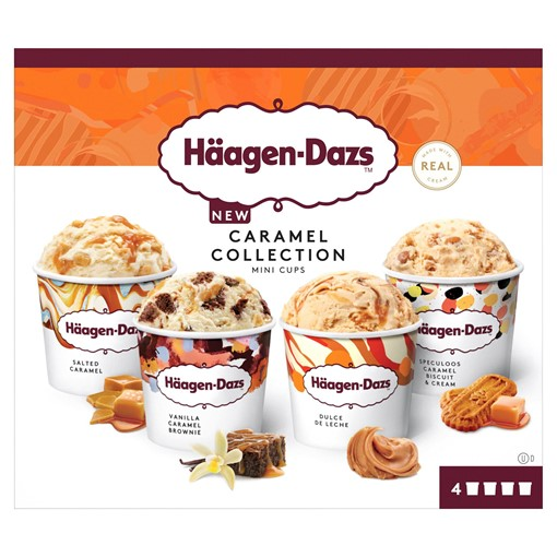Picture of Haagen-Dazs Caramel Minicup Ice Cream Collection 4x95ml