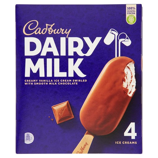 Picture of Cadbury Dairy Milk Ice Cream 4 x 100ml
