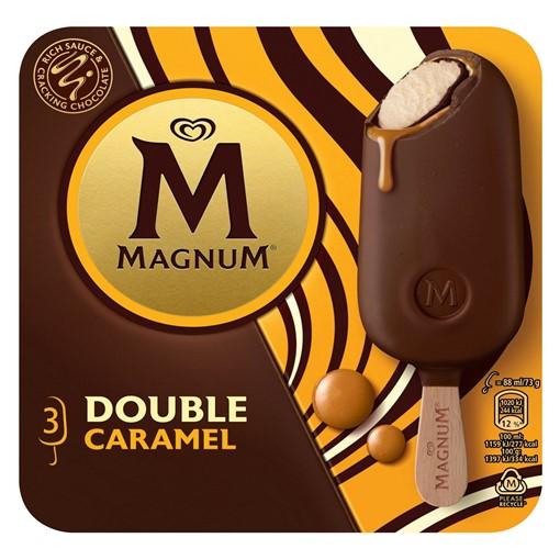 Picture of Magnum Double Caramel Ice Cream 3 x 88 ml