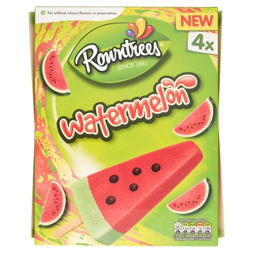 Picture of Rowntree's Watermelon Ice Lollies 4 x 73ml