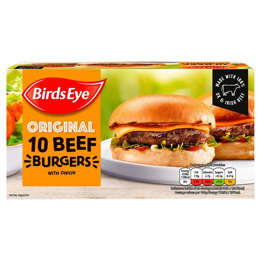 Picture of Birds Eye Original 10 Beef Burgers with Onion 567g