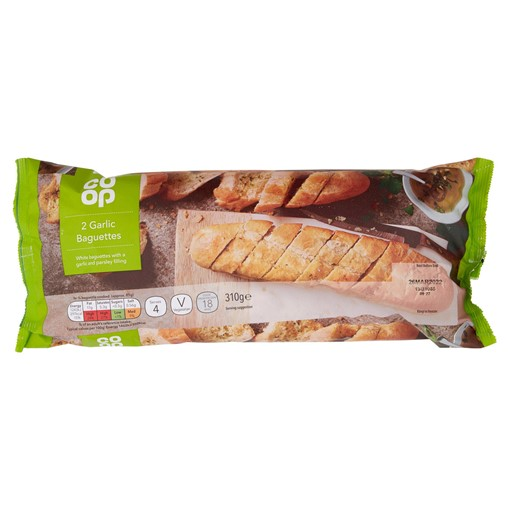 Picture of Co-op 2 Garlic Baguettes 310g