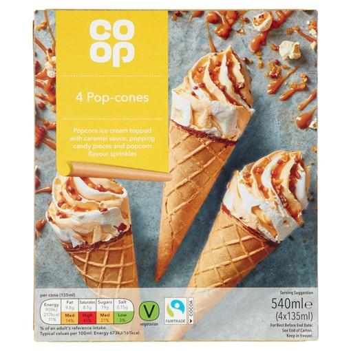 Picture of Co-op Pop-Cones 4 x 135ml (540ml)