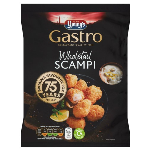 Picture of Young's Gastro Wholetail Scampi 220g