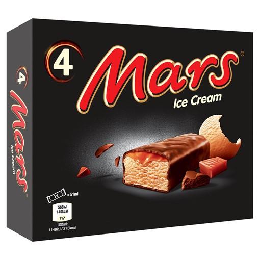 Picture of Mars Ice Cream 4 x 51ml (204ml)