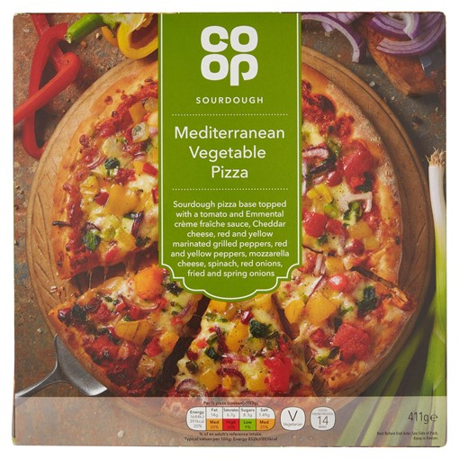 Picture of Co Op Sourdough Mediterranean Vegetable Pizza 411g