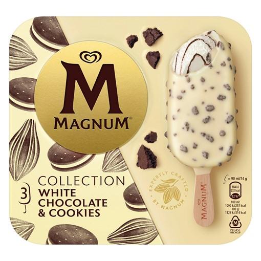 Picture of Magnum White Chocolate & Cookies Ice Cream 3 x 90 ml