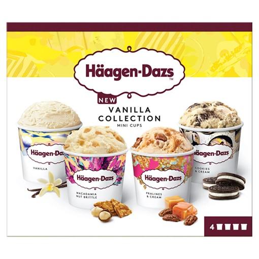 Picture of Haagen-Dazs Vanilla Minicup Ice Cream Collection 4 x 95ml