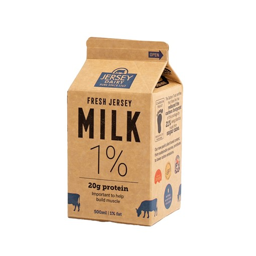Picture of Jersey Dairy 1% Fat Milk (Blue)