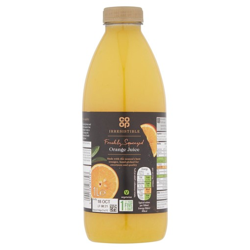 Picture of Co-op Irresistible Freshly Squeezed Orange Juice 1L