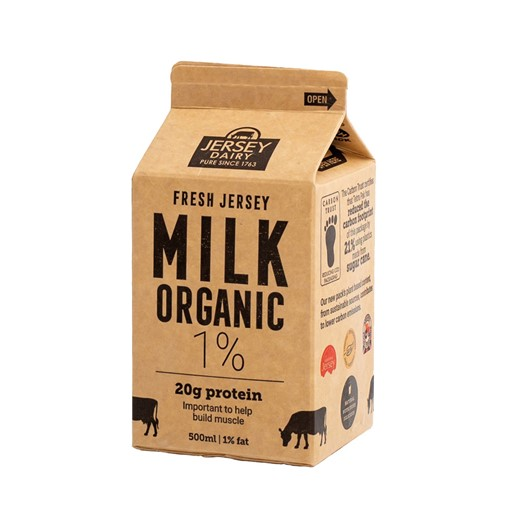 Picture of Jersey 1% Fat Organic Milk 500ml