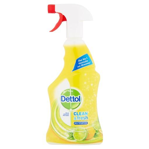 Picture of Dettol Clean & Fresh Multipurpose Sparkling Lemon & Lime Burst 500ml