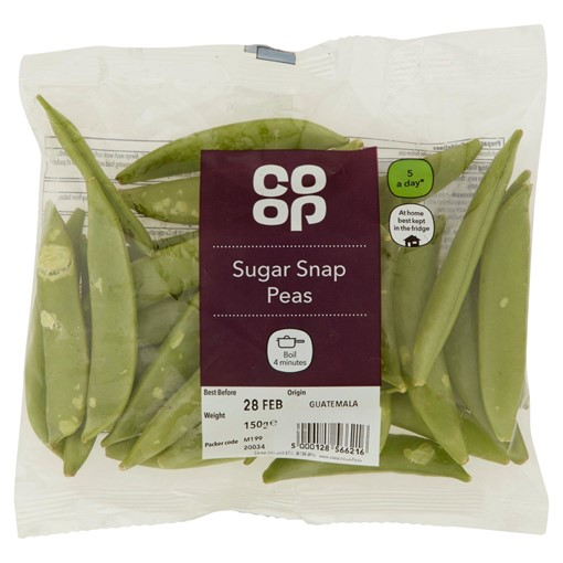 Picture of Co-op Sugar Snap Peas 150g