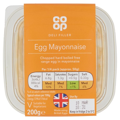 Picture of Co-op Deli Filler Egg Mayonnaise 200g