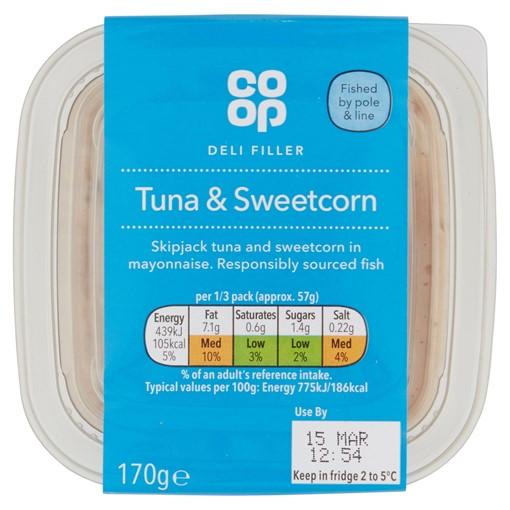 Picture of Co-op Deli Filler Tuna & Sweetcorn 170g