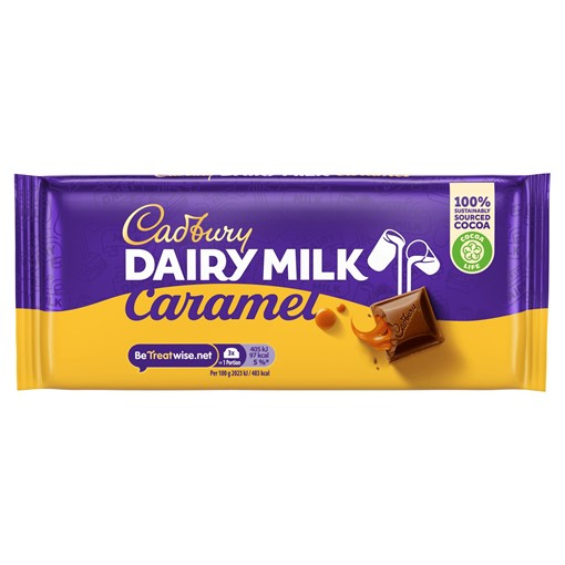 Picture of Cadbury Dairy Milk Caramel Chocolate Bar 120g