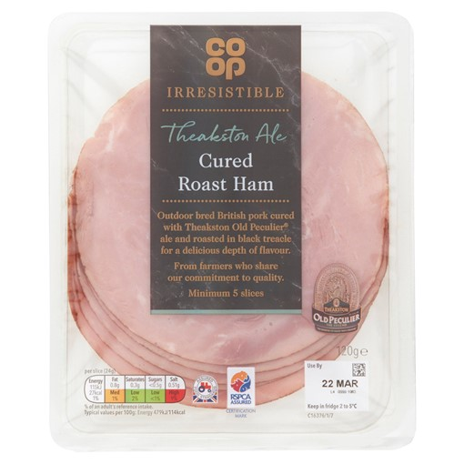 Picture of Co-op Irresistible Theakston Ale Cured Roast Ham 120g