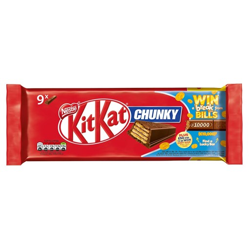 Picture of Kit Kat Chunky Milk Chocolate Bar Multipack 32g 9 Pack