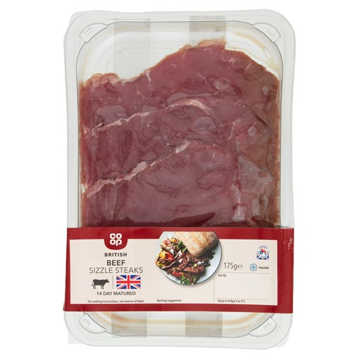 Picture of Co-op British Beef Sizzle Steaks 175g
