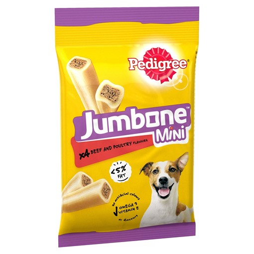 Picture of Pedigree Jumbone Mini Adult Small Dog Treats Beef & Poultry 4 Chews 160g