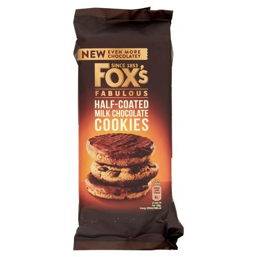 Picture of Fox's Fabulous Half-Coated Milk Chocolate Cookies 175g