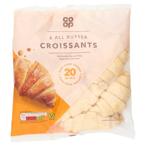 Picture of Co-op 6 All Butter Croissants 420g