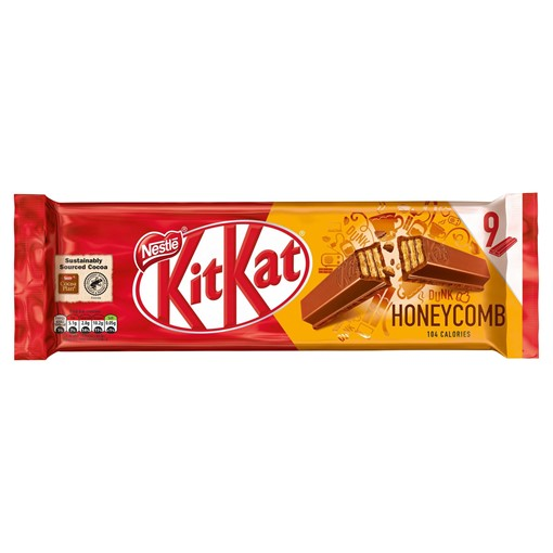 Picture of Kit Kat 2 Finger Honeycomb Chocolate Biscuit Bar Multipack 9 Pack