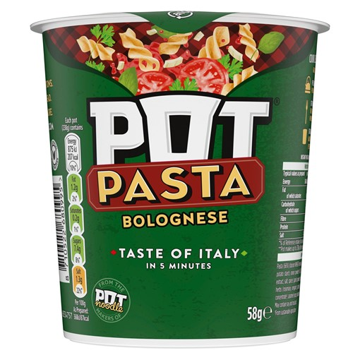 Picture of Pot Pasta Bolognese instant hot snack 58g