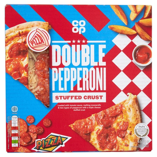 Picture of Co-op Double Pepperoni Stuffed Crust Pizza 460g