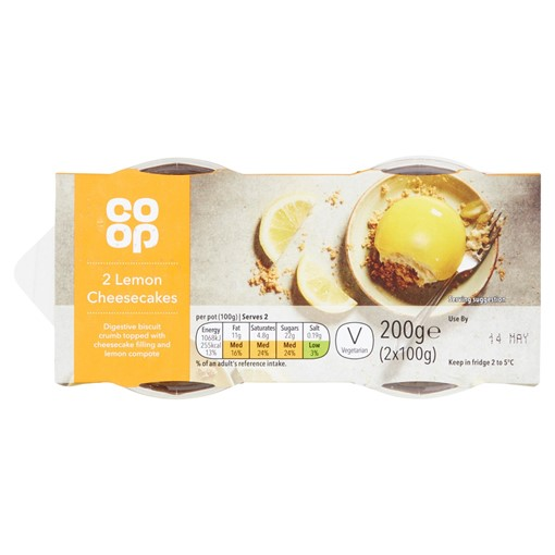 Picture of Co-op Lemon Cheescake 2X100G