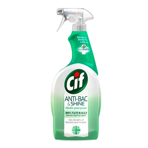 Picture of Cif Antibac & Shine Disinfectant 99.9% Germ Kill Cleaner Spray 100% 700ml
