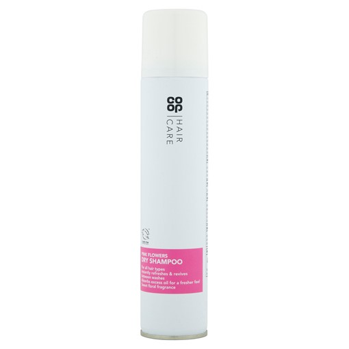 Picture of Co-op Hair Care Pink Flowers Dry Shampoo 200ml