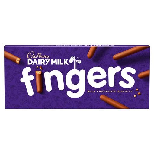 Picture of Cadbury Dairy Milk Fingers Chocolate Biscuits 114g